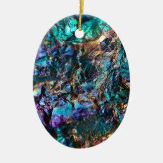 Quartzo liso do óleo de turquesa ornamento de cerâmica oval
