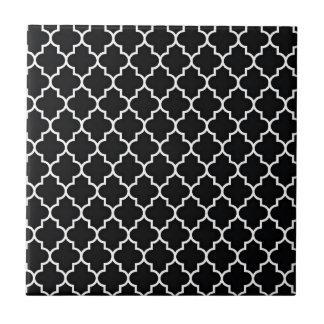 Quatrefoil preto e branco