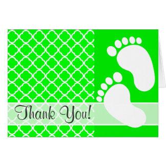 Quatrefoil verde elétrico cartão