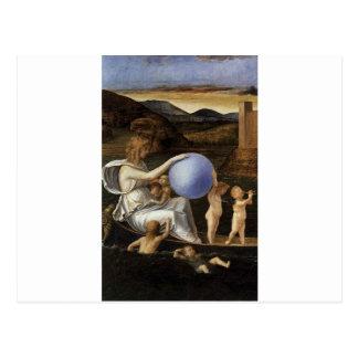 Quatro alegorias: Fortuna por Giovanni Bellini Cartão Postal