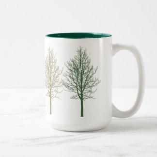 Quatro árvores canecas