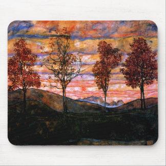 Quatro árvores por Egon Schiele Mouse Pad