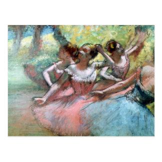 Quatro bailarinas no palco cartao postal