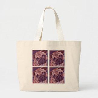 Quatro caras do filhote de cachorro do Pug Bolsa Para Compra