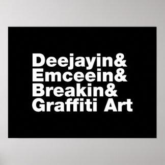 Quatro elementos de Hip Hop Poster