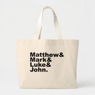 Quatro evangelho - Matthew & marca & bíblia de Luk Sacola Tote Jumbo