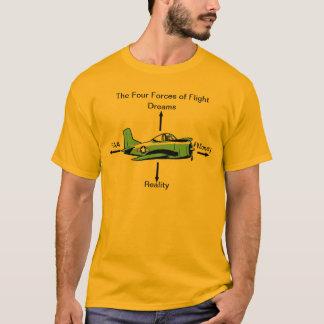 Quatro forças da camisa da aviação do vôo