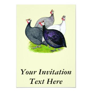 Quatro Guinés Convite 12.7 X 17.78cm