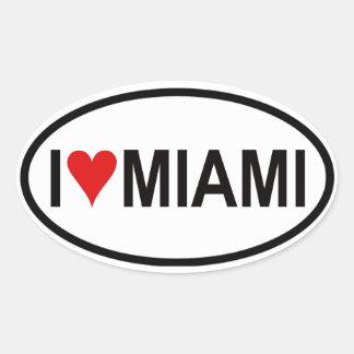 QUATRO I [coração] Miami Adesivo Oval