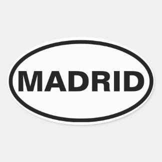 QUATRO Madrid Adesivo Oval