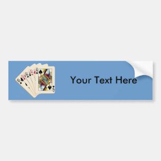 Quatro Queens - mão de póquer - jogo para ganhar e Adesivo Para Carro
