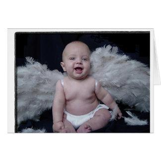 Que anjo cartão comemorativo