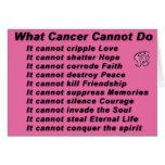 que cancer não pode fazer cartão comemorativo
