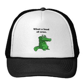 Que carga de desenhos animados do crocodilo do boné
