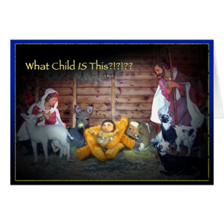 Que criança É esta?? Cartão de Natal de Jesus da