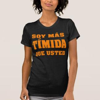 Que do timido do mas da soja usted para a t-shirt