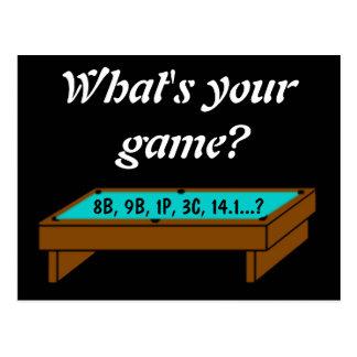 Que é seu jogo? Cartão