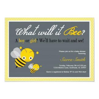 Que ele abelha? Convite do chá de fraldas