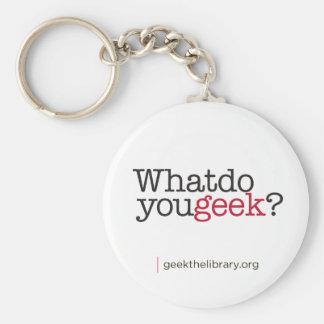 Que fazem você geek? chaveiro