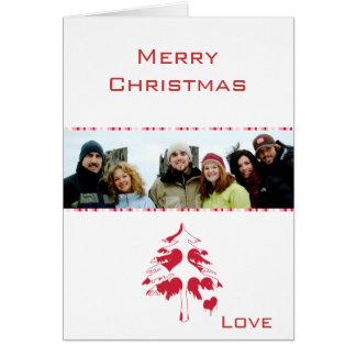 Que Feliz Natal de um salvador & sua foto de famíl Cartões