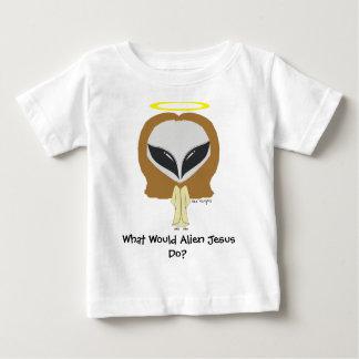 Que Jesus estrangeiro faria? T infantil Camisetas