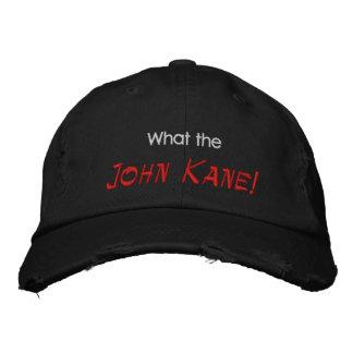 Que, John Kane! Boné Bordado