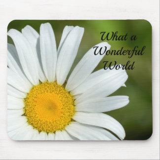 Que margarida maravilhosa Mousepad floral do mundo