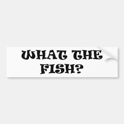 Que os peixes? adesivos