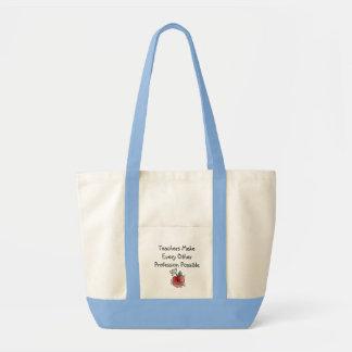 Que professores fazem a sacola bolsa tote