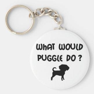 Que Puggle faria? Chaveiro