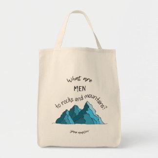 Que são homens às rochas e às montanhas? O bolsa