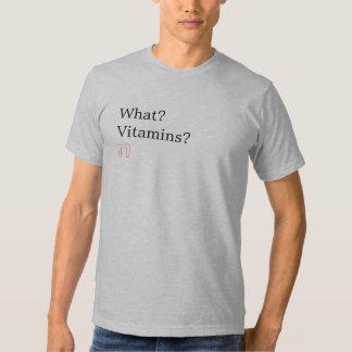 Que? Vitaminas? Camisa Camiseta