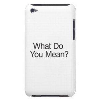 Que você significa ai capa iPod Case-Mate