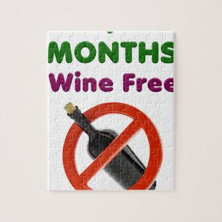 Quebra-cabeça 9 meses de vinho livram, mulher gravida, bebê da