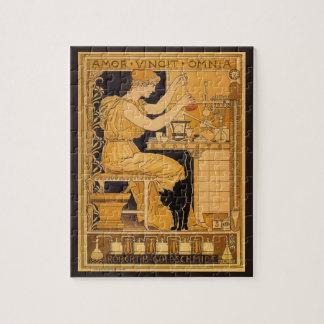 Quebra-cabeça A arte Nouveau do vintage, amor conquista todo o