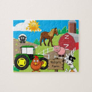 Quebra-cabeça A fazenda da criança personalizada
