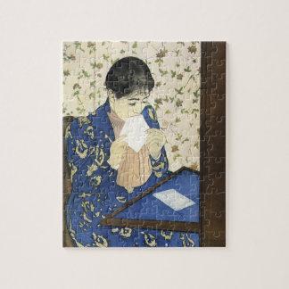 Quebra-cabeça A letra por Mary Cassatt, impressionismo do