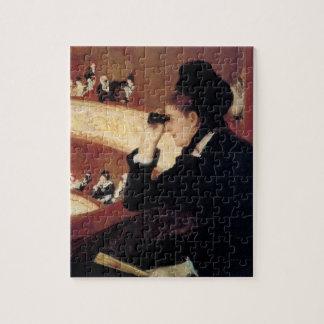 Quebra-cabeça A ópera por Mary Cassatt, impressionismo do