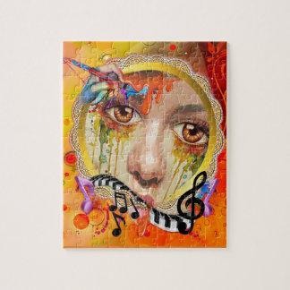 Quebra-cabeça A pálete do artista