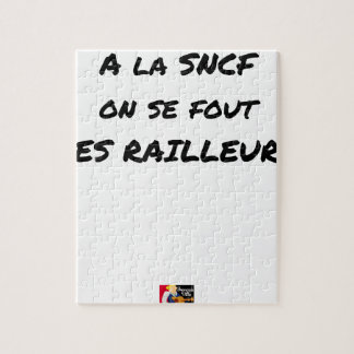 Quebra-cabeça À SNCF ELE SE FOUT RAILLEURS - Jogos de palavras