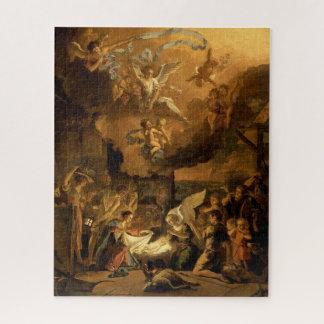 Quebra-cabeça Adoração do Natal das belas artes dos pastores