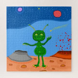 Quebra-cabeça Agradavelmente a alienígena bonito