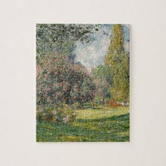 Quebra-cabeça Ajardine o Parc Monceau - Claude Monet