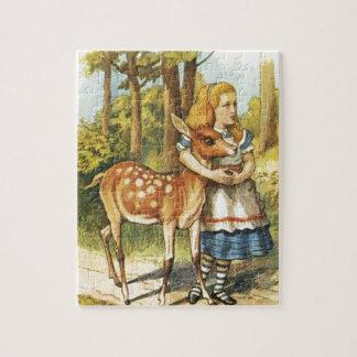 Quebra-cabeça Alice e a jovem corça
