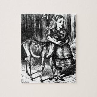 Quebra-cabeça Alice e uma jovem corça