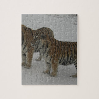 Quebra-cabeça Alugueres dois tigres Siberian
