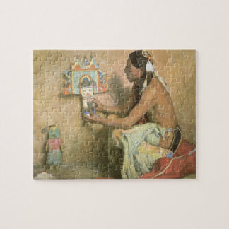 Quebra-cabeça Americanos nativos do vintage, Hopi Katchina por