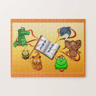 Quebra-cabeça animal colorido do alfabeto