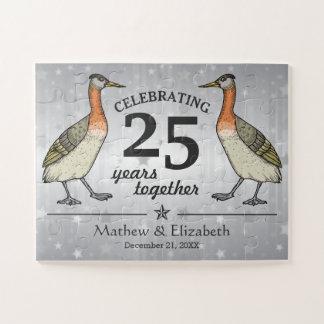 Quebra-cabeça Aniversário de casamento da prata feita sob