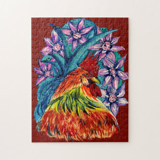 Quebra-cabeça Ano colorido do Watercolour da serra de vaivém do